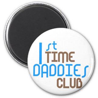 1st Time Daddies Club (Blue) 2 Inch Round Magnet