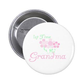 1st Time Grandma 2 Inch Round Button