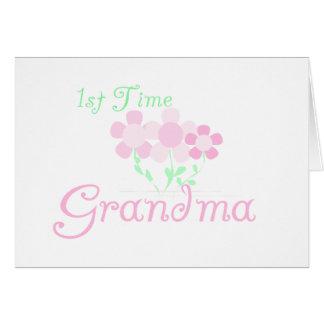 1st Time Grandma Greeting Card