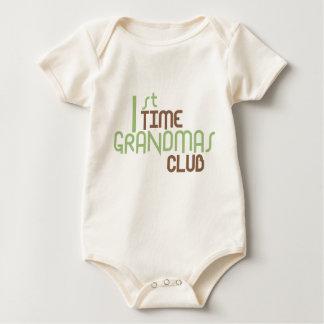 1st Time Grandmas Club (Green) Baby Bodysuit