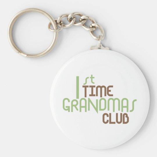 1st Time Grandmas Club (Green) Keychain