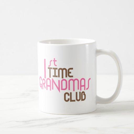 1st Time Grandmas Club (Pink) Classic White Coffee Mug