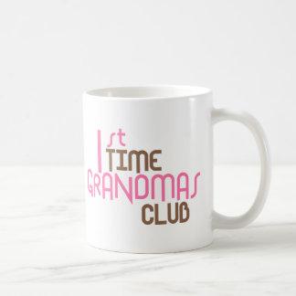 1st Time Grandmas Club (Pink) Coffee Mug