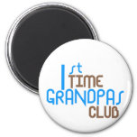 1st Time Grandpas Club (Blue) 2 Inch Round Magnet