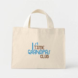 1st Time Grandpas Club (Blue) Mini Tote Bag