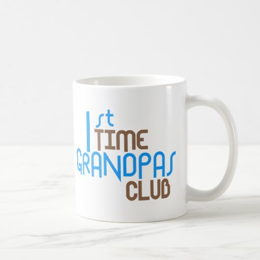 1st Time Grandpas Club (Blue) Mugs