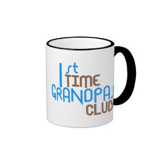 1st Time Grandpas Club (Blue) Ringer Mug