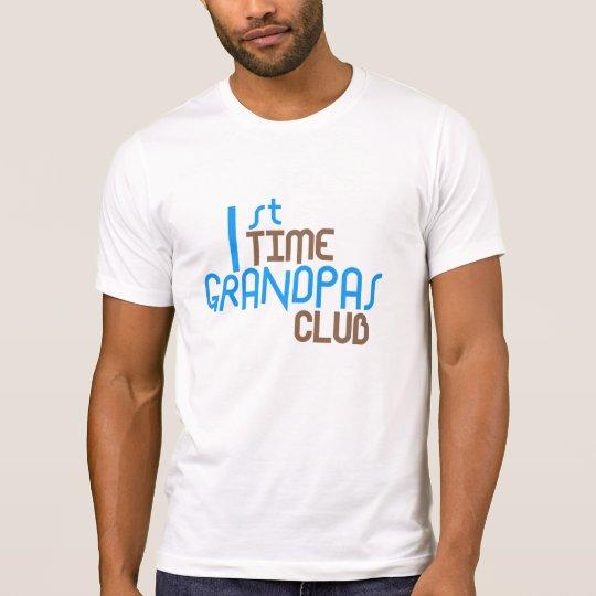 1st Time Grandpas Club (Blue) T-Shirt