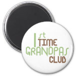 1st Time Grandpas Club (Green) 2 Inch Round Magnet