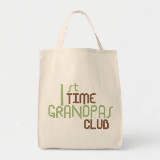 1st Time Grandpas Club (Green) Grocery Tote Bag