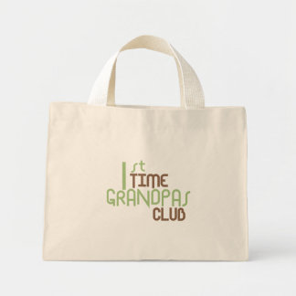 1st Time Grandpas Club (Green) Mini Tote Bag