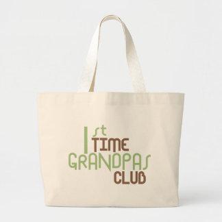 1st Time Grandpas Club (Green) Jumbo Tote Bag