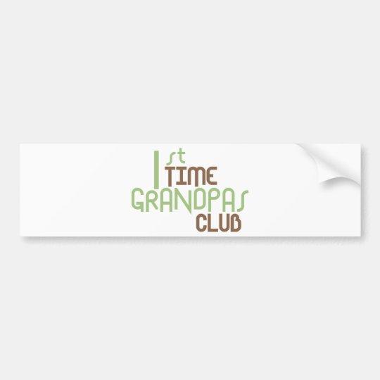 1st Time Grandpas Club (Green) Bumper Sticker