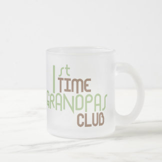 1st Time Grandpas Club (Green) Frosted Glass Coffee Mug