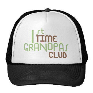 1st Time Grandpas Club (Green) Trucker Hat