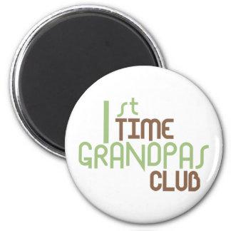 1st Time Grandpas Club (Green) Magnet