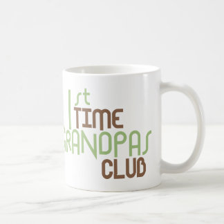 1st Time Grandpas Club (Green) Coffee Mugs