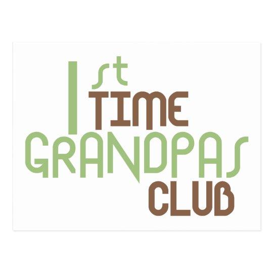 1st Time Grandpas Club (Green) Postcard