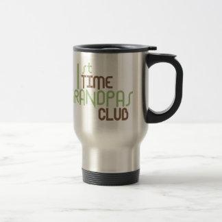 1st Time Grandpas Club (Green) Travel Mug