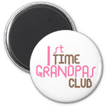 1st Time Grandpas Club (Pink) 2 Inch Round Magnet