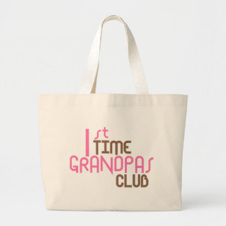 1st Time Grandpas Club (Pink) Jumbo Tote Bag