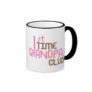 1st Time Grandpas Club (Pink) Ringer Mug