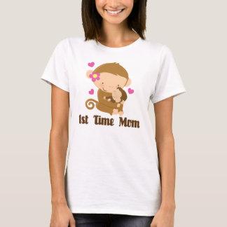 1st Time Mom Monkey Cute T-Shirt