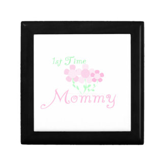 1st Time Mommy Pink Flowers Gifts Jewelry Box