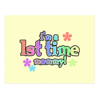 1st Time Mommy-Rainbow T-shirts and Gifts Postcard