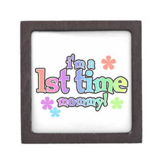 1st Time Mommy Rainbow Text Gifts Premium Gift Boxes