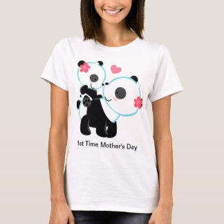 1st Time Mother's Day Panda Tee Shirt