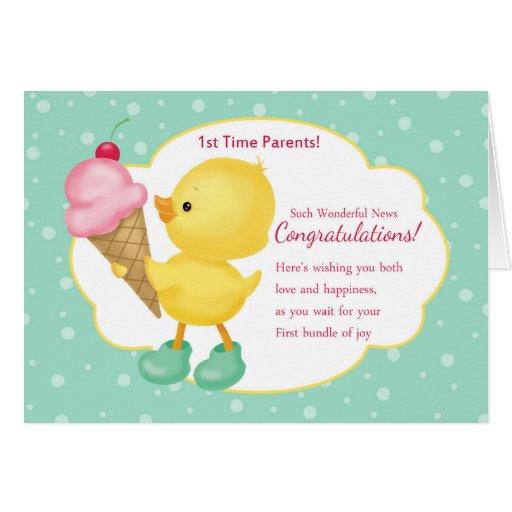 1st Time Parents Pregnancy Congratulations Card Zazzle