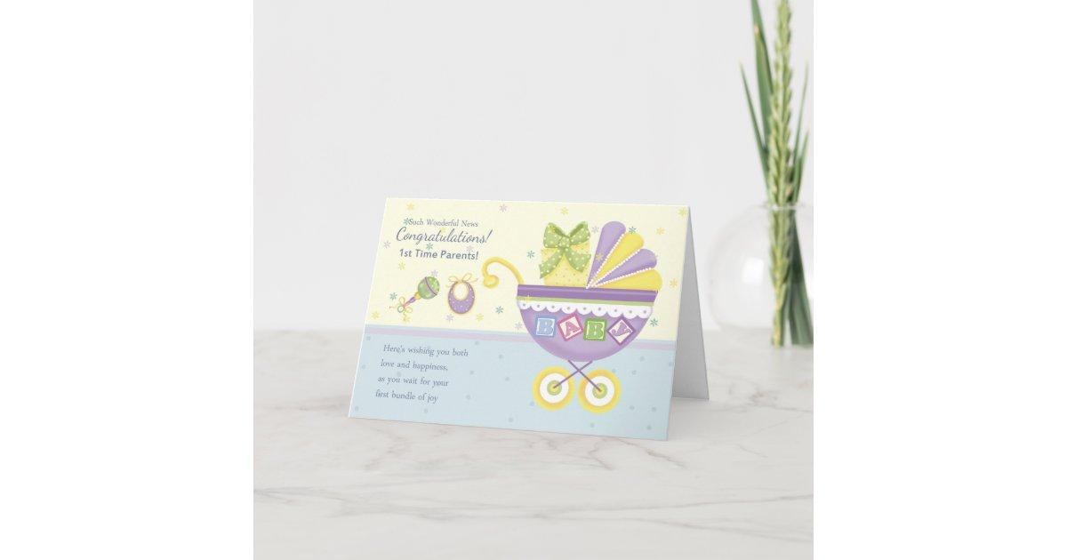 1st time parents pregnancy congratulations card zazzlecom - Pregnancy Congratulations Card