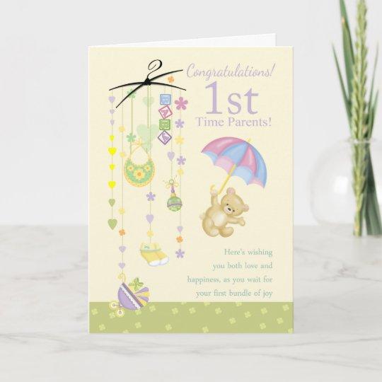 1st time parents pregnancy congratulations card - Pregnancy Congratulations Card