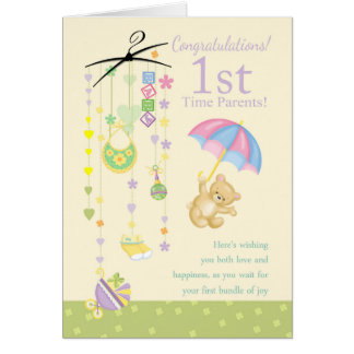 1st Time Parents Pregnancy Congratulations Card