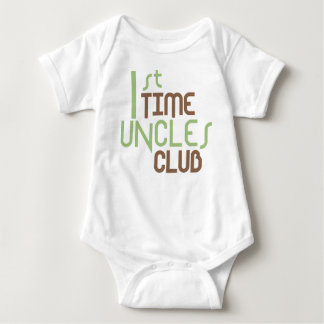 1st Time Uncles Club (Green) Baby Bodysuit
