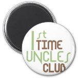 1st Time Uncles Club (Green) Fridge Magnet