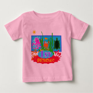 1st Undersea Adventure Birthday Tshirts