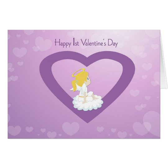 1st Valentine's Day Angel Card