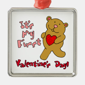 1st Valentines Day Christmas Ornament