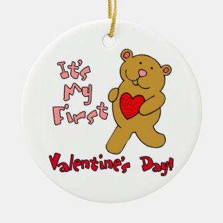 1st Valentines Day Christmas Tree Ornaments