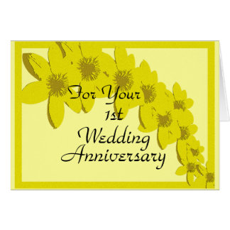 1st Wedding Anniversary Card Template