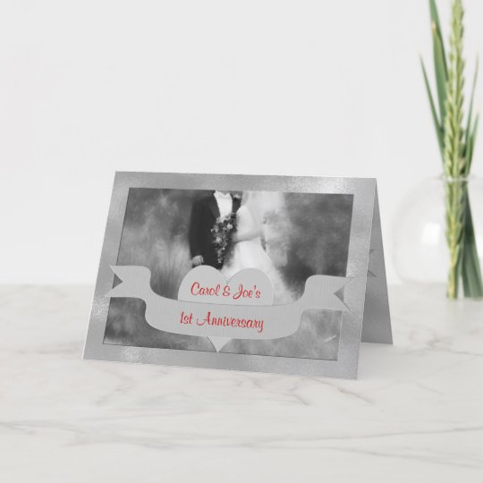1st wedding anniversary congratulations with red card zazzle 1st wedding anniversary congratulations with red card m4hsunfo