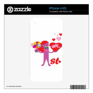 1st Wedding Anniversary Decals For The iPhone 4S