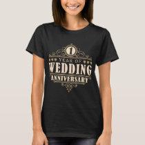 1st Wedding Anniversary (Wife) T-Shirt