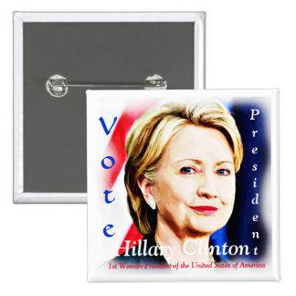 1st Woman President Hillary Clinton 2016_ Pinback Button