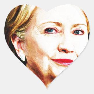 1st Woman President Hillary Clinton 2016_ Heart Sticker