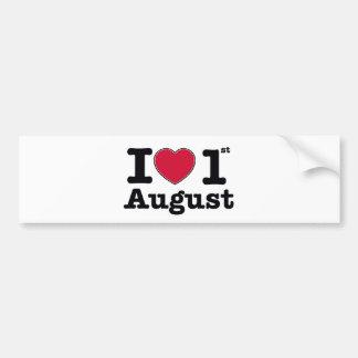 1th july my day of birthday bumper sticker