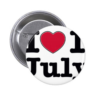 1th july my day of birthday pinback button