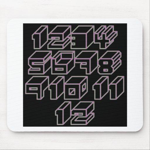1through12 cinco mousepads